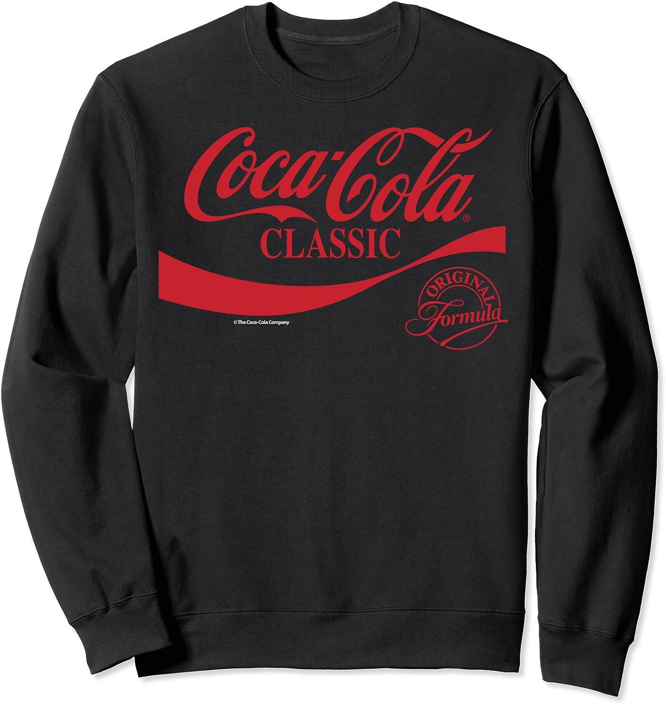 Coca-Cola Classic Original Formula Logo Red Sweatshirt Directly New Shipping Free Shipping managed store