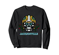 Jacksonville Football Helmet Sugar Skull Day Of The Dead T Shirt Sweatshirt Black