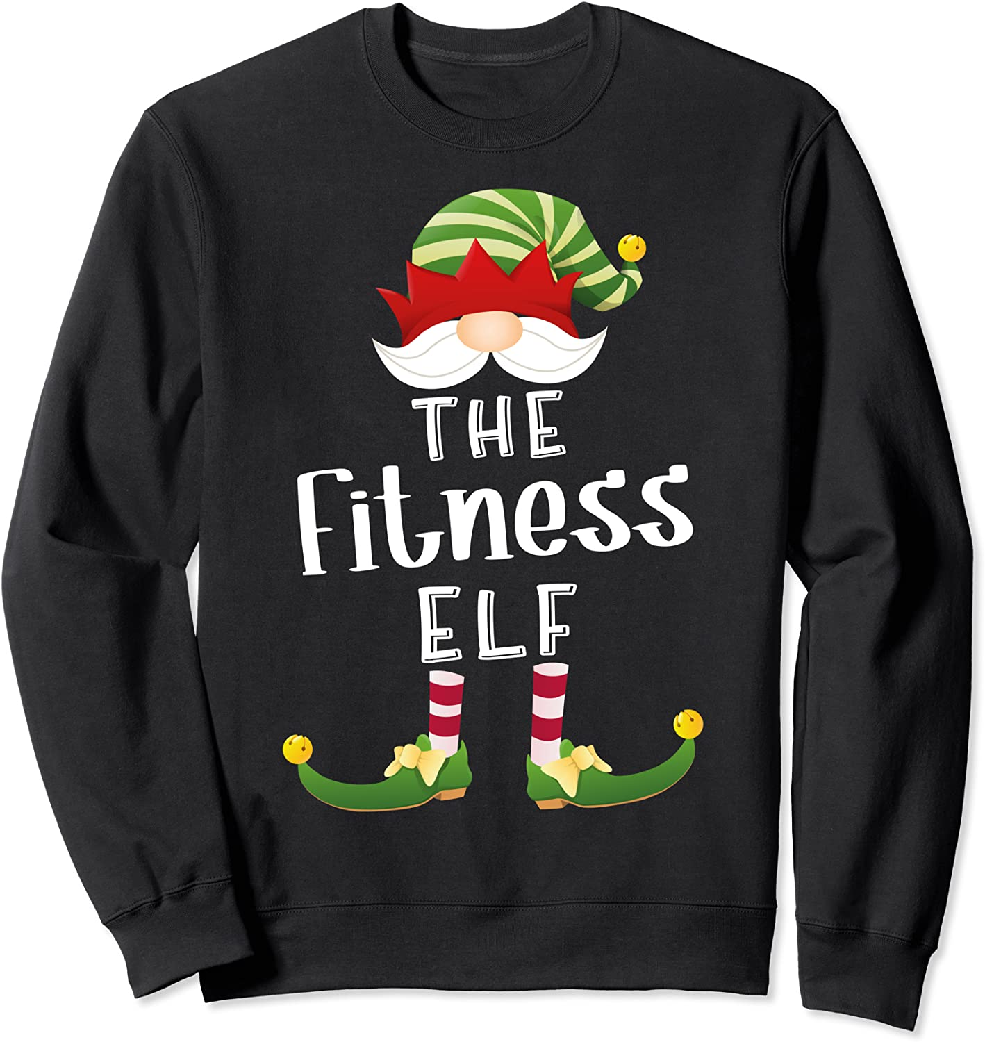 Fitness Elf Group Christmas Credence Max 86% OFF Party Sweatshirt Funny Pajama