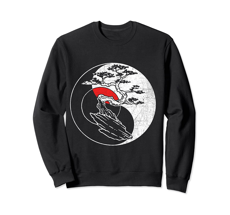 Spirit Soul Yin Yang Bonsai Tree Meditation Shirts Crewneck Sweater
