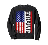Donald Trump 2020 Vintage Usa Flag Shirts Sweatshirt Black