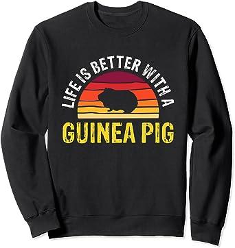 Unisex Long Sleeve Tshirt Guinea Pig Sweatshirts