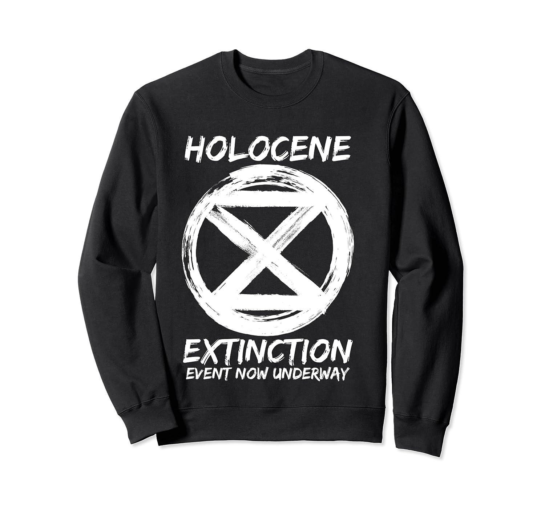 Holocene Mass Extinction Event Symbol Climate Change Science T Shirt Crewneck Sweater