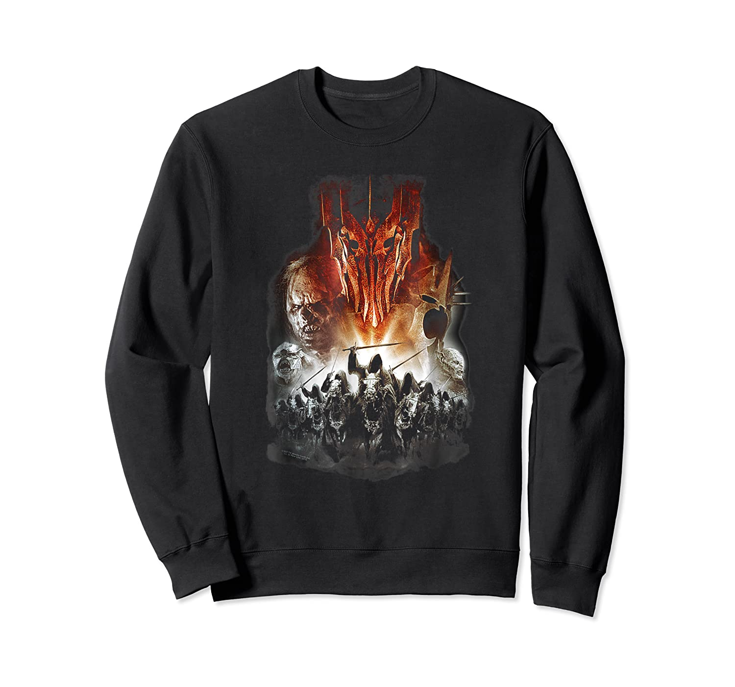 Lord Of The Rings Evil Rising Shirts Crewneck Sweater