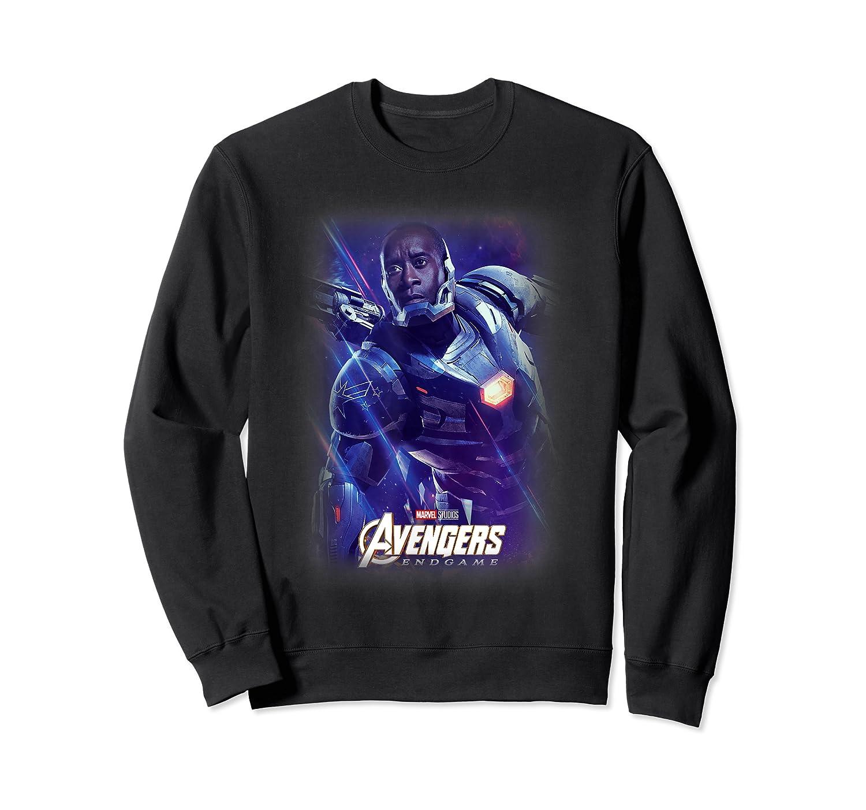 Marvel Avengers Endgame War Machine Galactic Poster T-shirt Crewneck Sweater