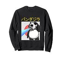 Japanese Vintage Panda Bear Retro Halloween Costume Shirts Sweatshirt Black