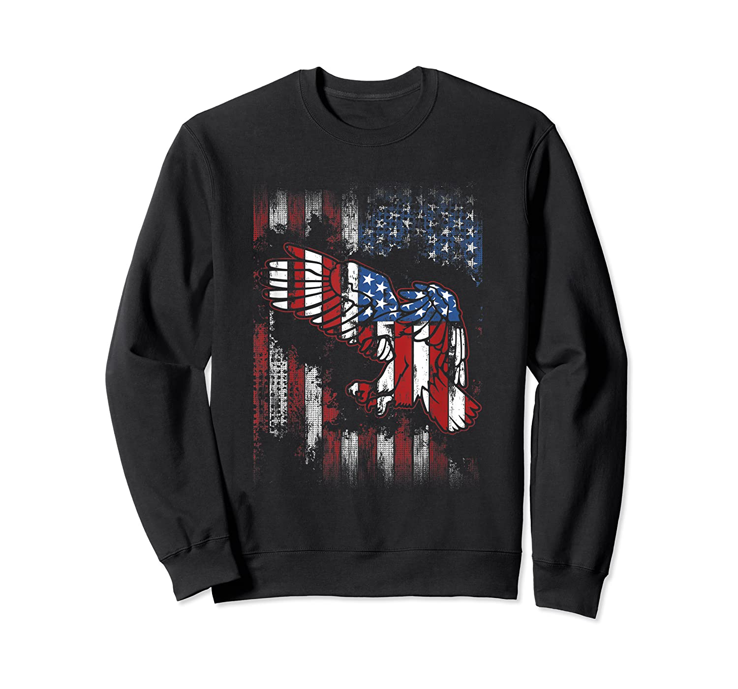 American Flag Eagle For Proud Americans On 4th July Shirts Crewneck Sweater