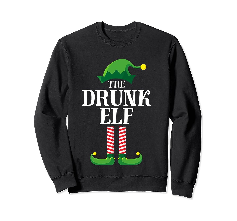 Drunk Elf Matching Family Group Christmas Party Pajama Shirts Crewneck Sweater