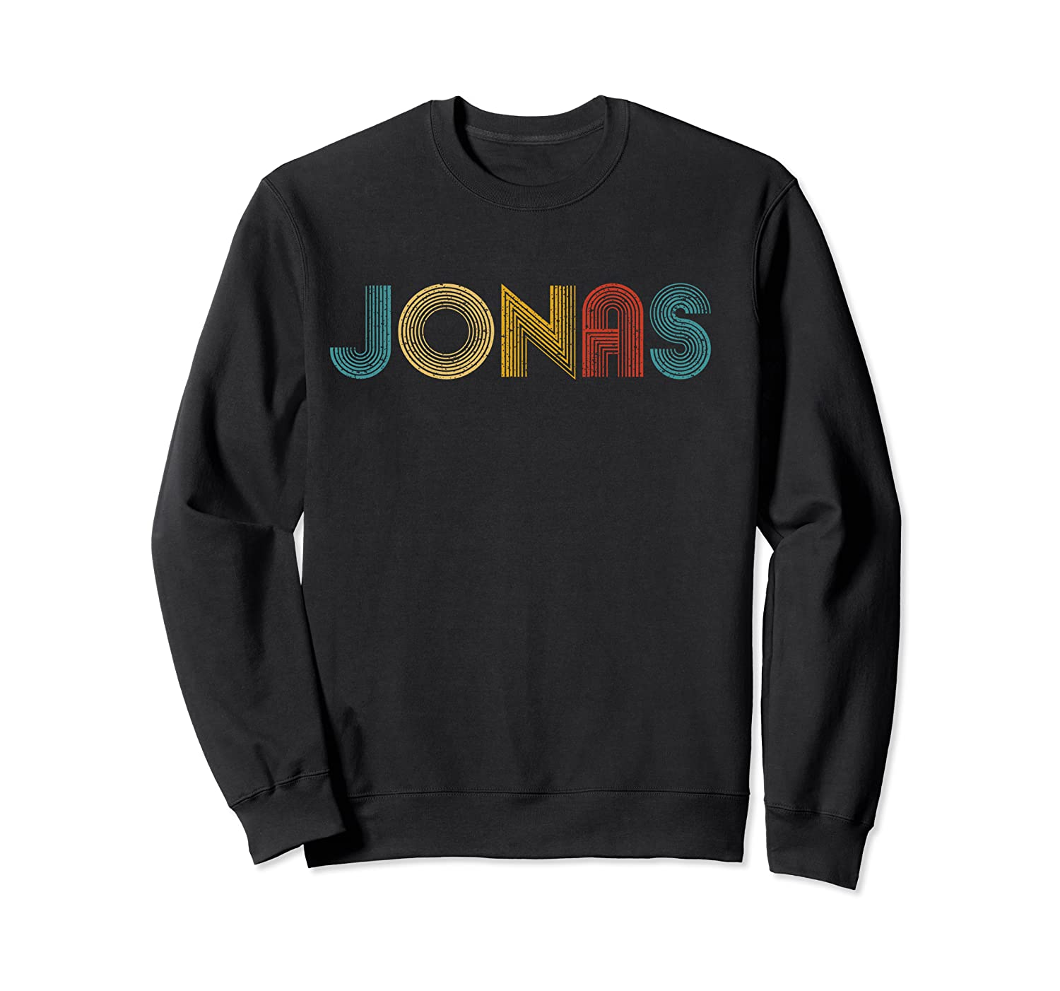 Jonas First Given Name Pride Vintage Distressed T Shirt Crewneck Sweater