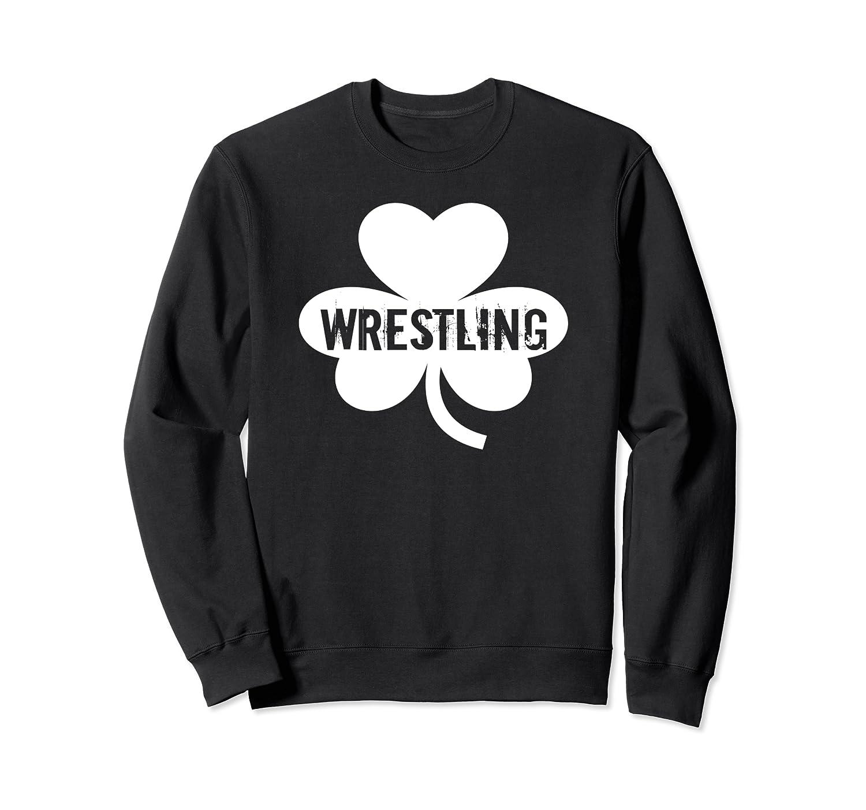 Lucky Wrestling Shamrock St Patrick's Day Sweatshirt-Awarplus