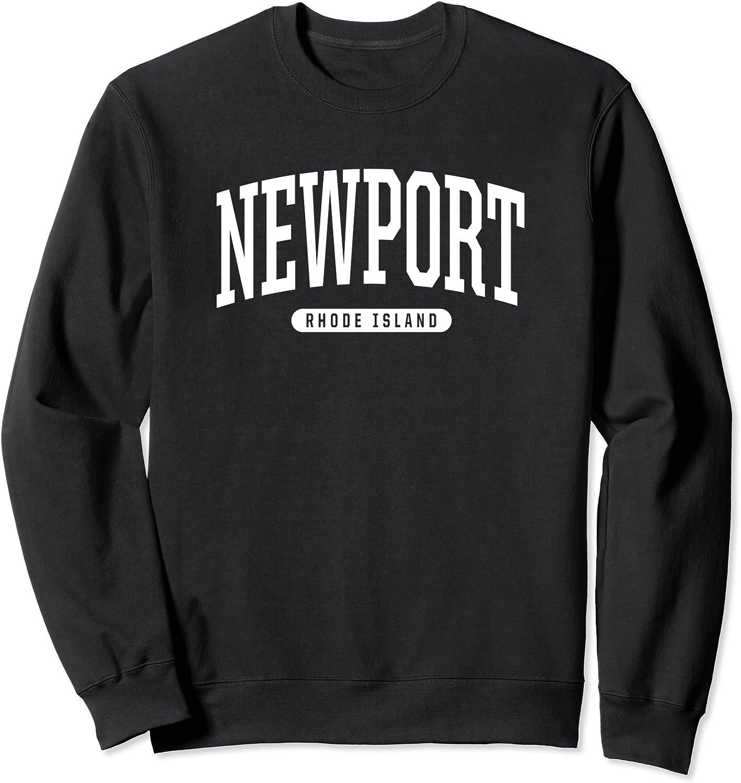 College Style Newport Rhode Year-end annual account Sweatshirt Gift Bargain Island Souvenir