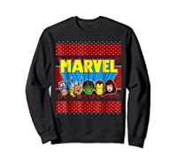 Avengers Classic Ugly Christmas Sweater Shirts Sweatshirt Black