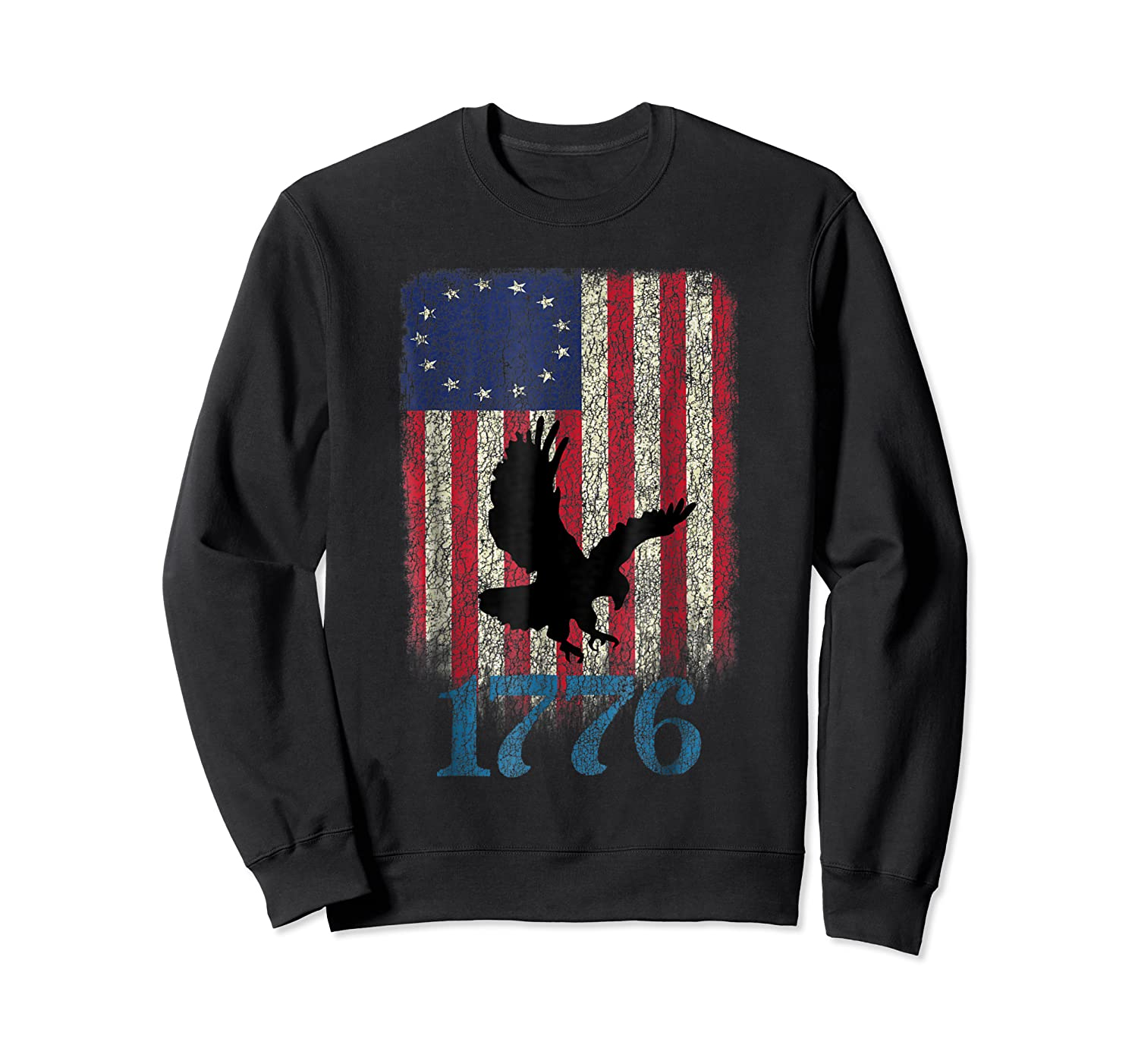 Betsy Ross Shirt 4th Of July American Flag Tshirt 1776 Eagle Crewneck Sweater