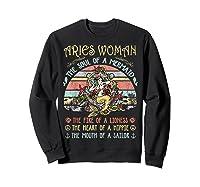 Aries Woman The Soul Of A Mermaid Vintage Mothers Day Shirts Sweatshirt Black