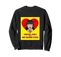 Halloween Bloody Not My Blood Type Vampire Graphic Shirts Sweatshirt Black