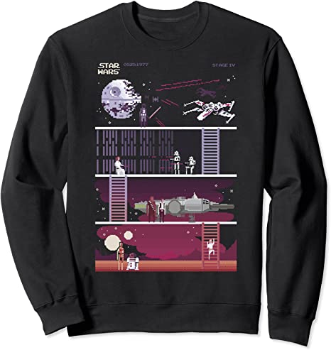 Star Wars Retro Video Game Theme Sweatshirt