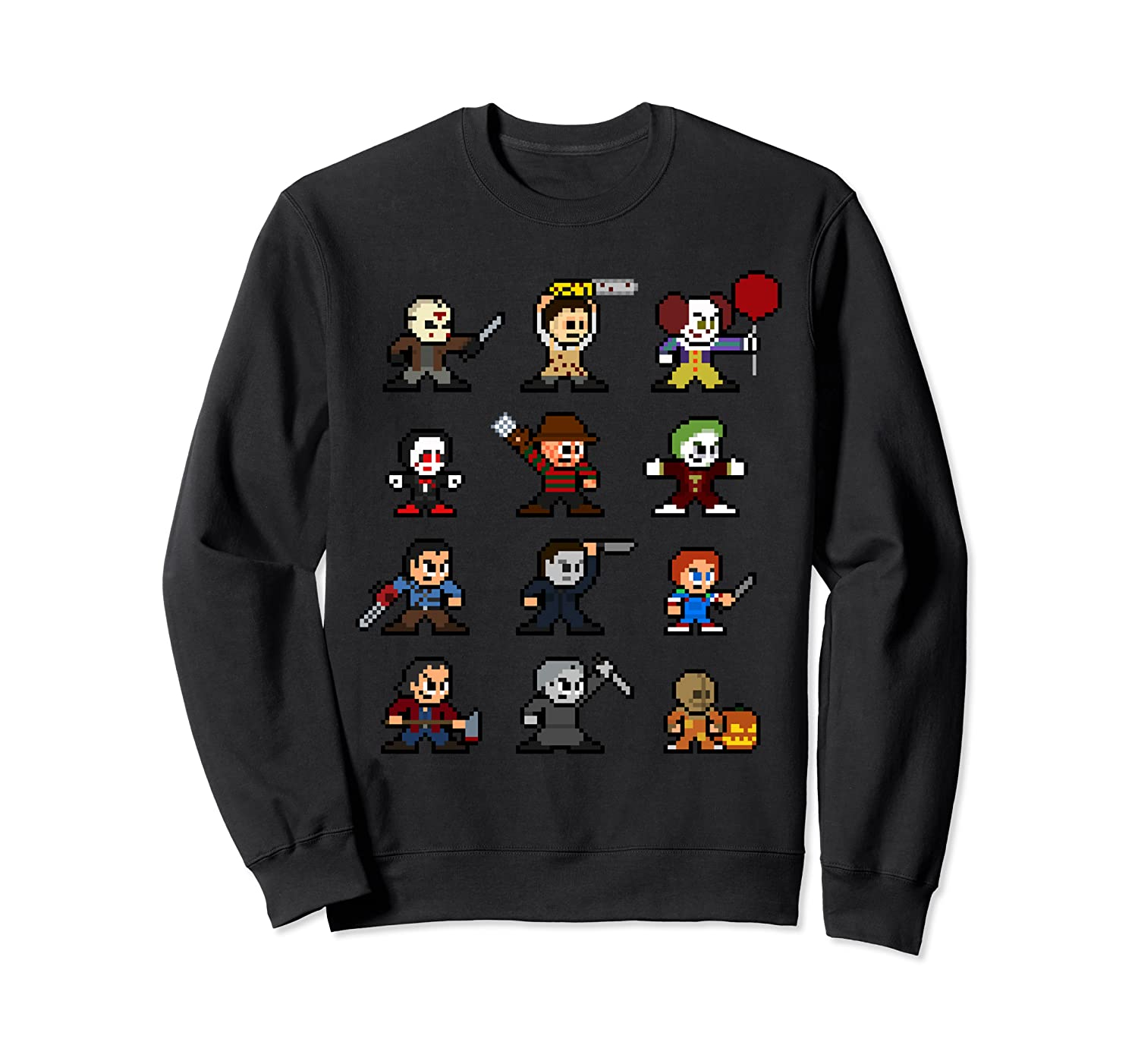Friends Pixel Halloween Icons Scary Horror Movies Shirts