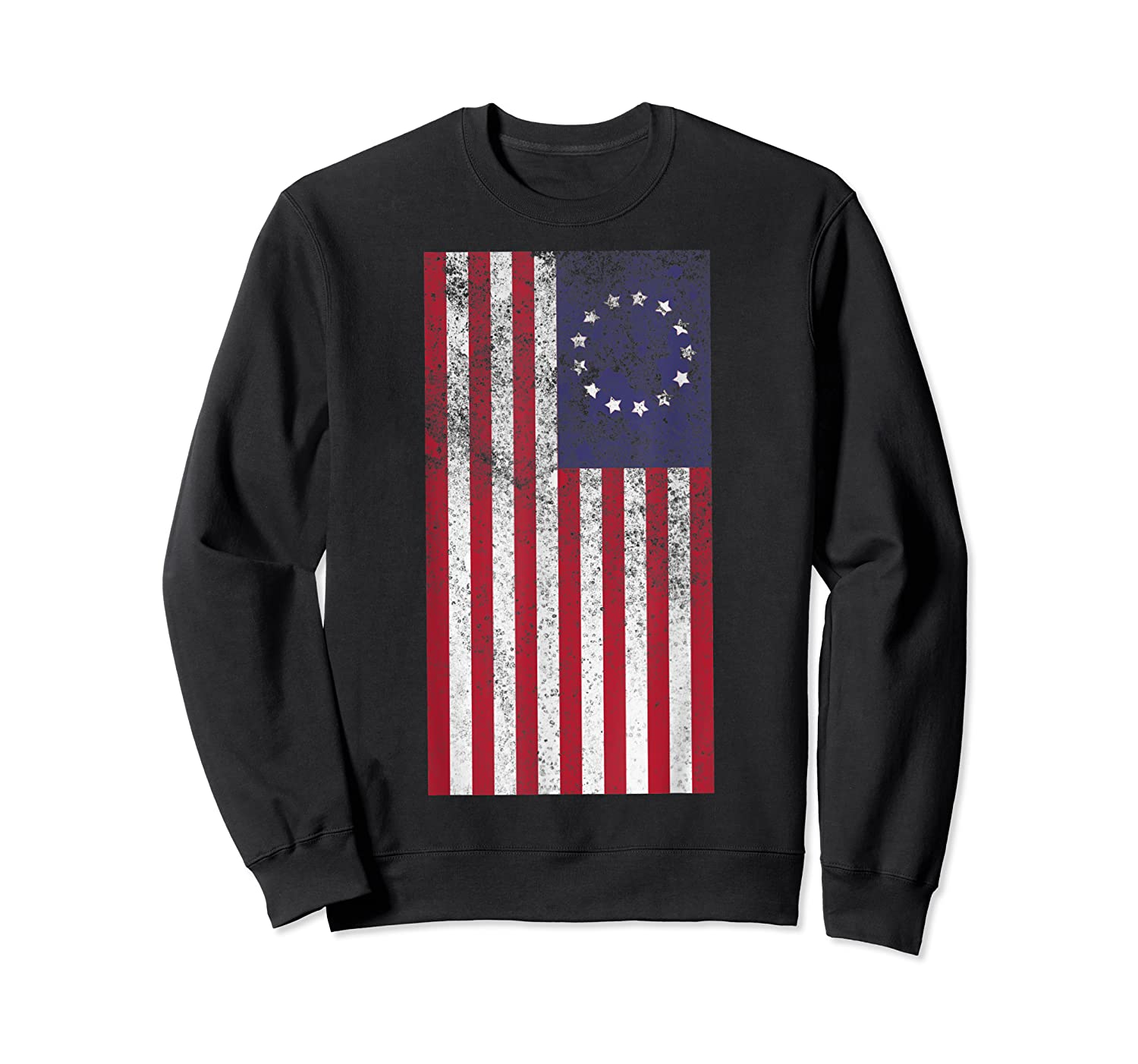Vintage Retro Betsy Ross Shirt 4th Of July American Flag T Shirt Crewneck Sweater