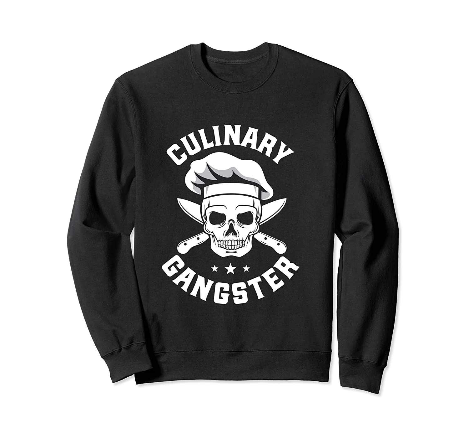 Chef Knife Skull Gangster Culinary Gangster Gift T Shirt Crewneck Sweater