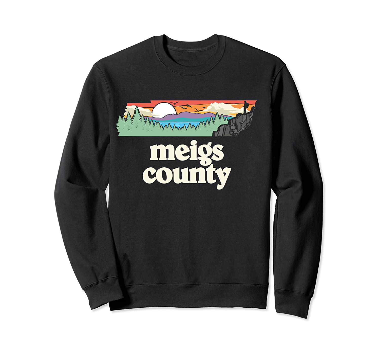 Meigs County Tennessee Outdoors Retro Nature Graphic T Shirt Crewneck Sweater