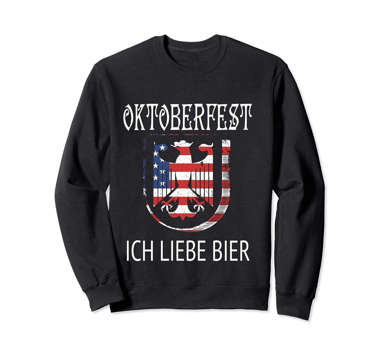 German Eagle Deutschland Us Flag Oktoberfest Shirts Crewneck Sweater