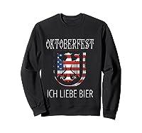 German Eagle Deutschland Us Flag Oktoberfest Shirts Sweatshirt Black