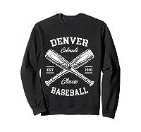 Denver Baseball, Classic Vintage Colorado Retro Fans Gift T-shirt Sweatshirt Black