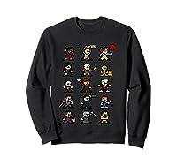 Friends Pixel Halloween Icons Scary Horror Movies T Shirt Sweatshirt Black