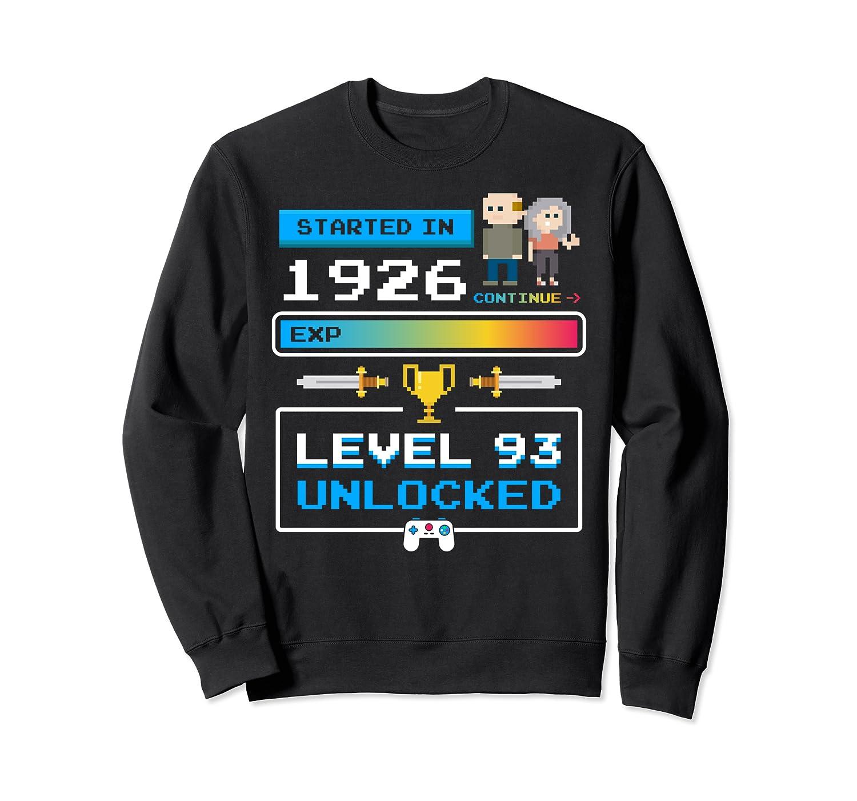 1926 93 Year Old Birthday Video Games 93rd Birthday Gamer Sweatshirt-TH