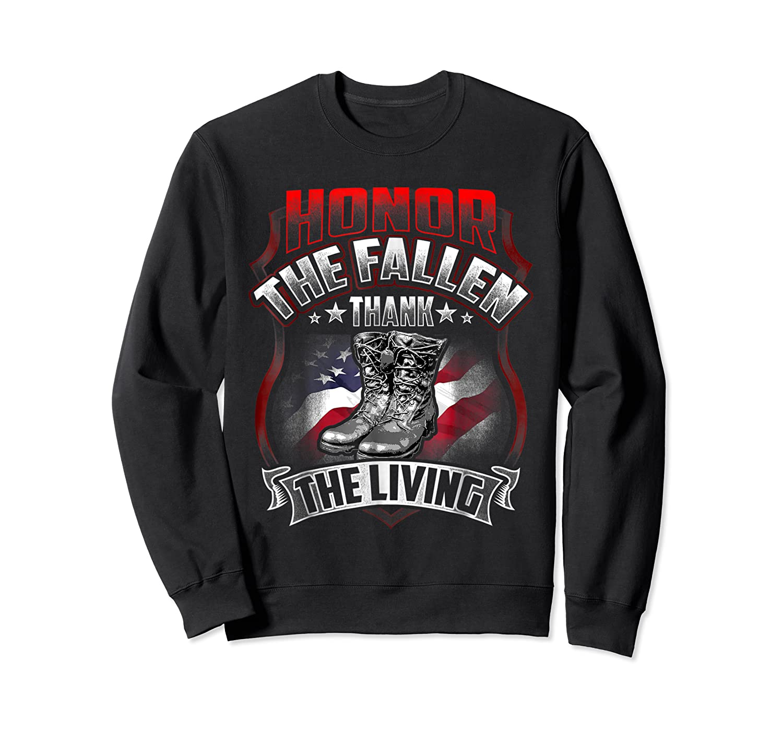 Memorial Day Honor The Fallen Thank The Living Veteran Shirts Crewneck Sweater