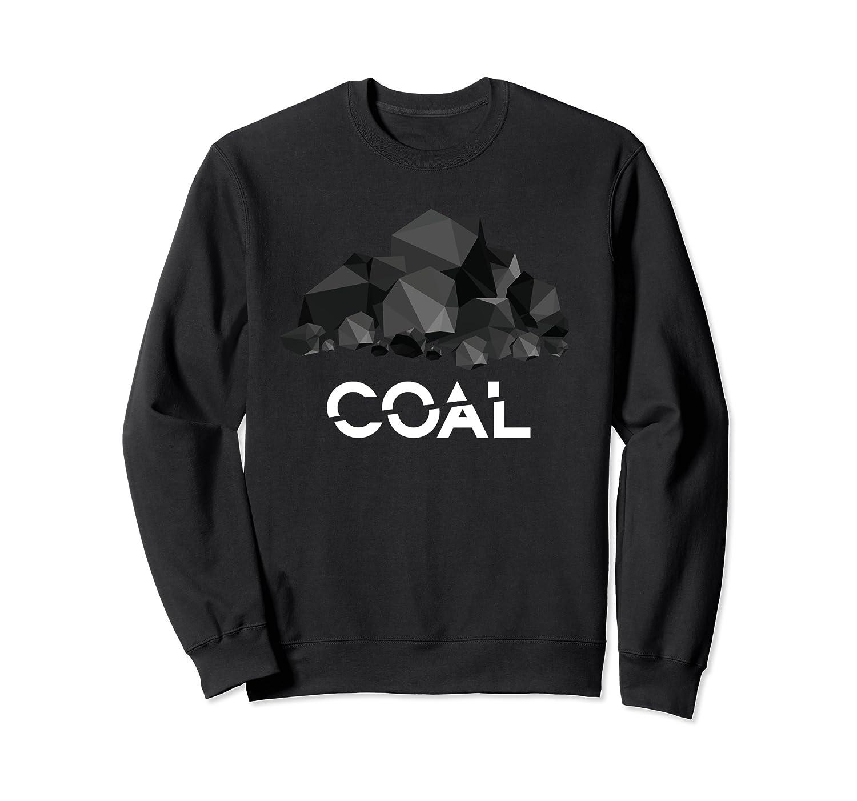 Coal Christmas Santa Naughty List Bad Boy Girl Gift Sweatshirt-Cotoa