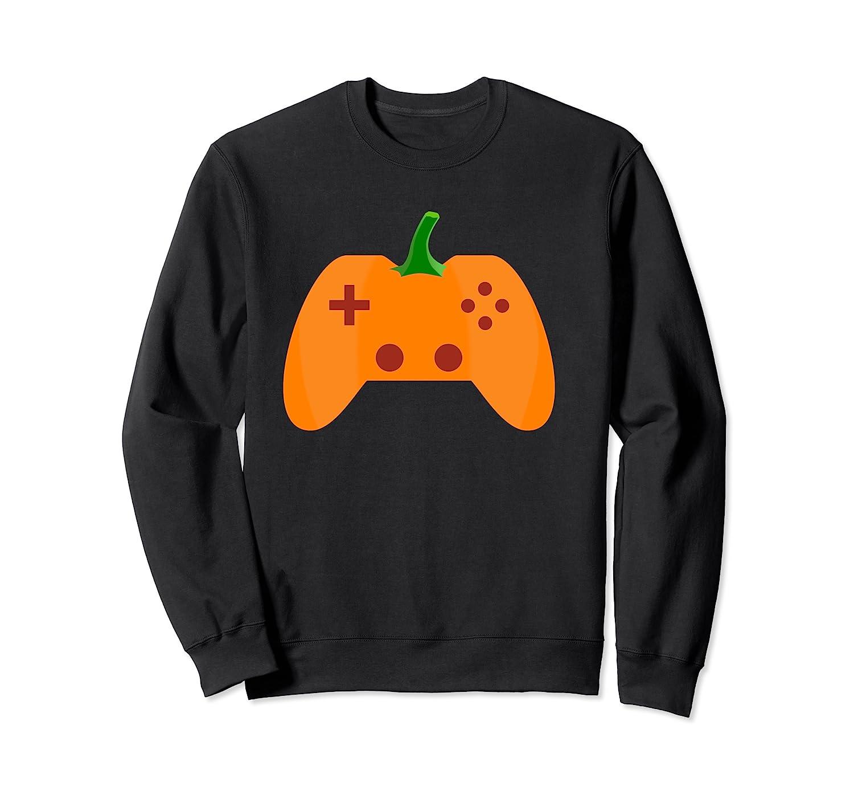 Halloween Video Game Pumpkin Funny Costume Gamer Shirts Crewneck Sweater