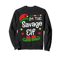 I'm The Sassy Elf Shirt Christmas Family Elf Costume Tee  Sweatshirt Black