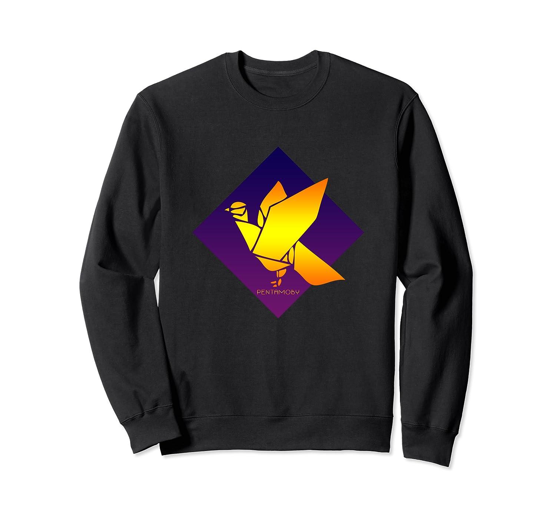 Peace Dove Bird Purple Blue Origami Majesty Shirts