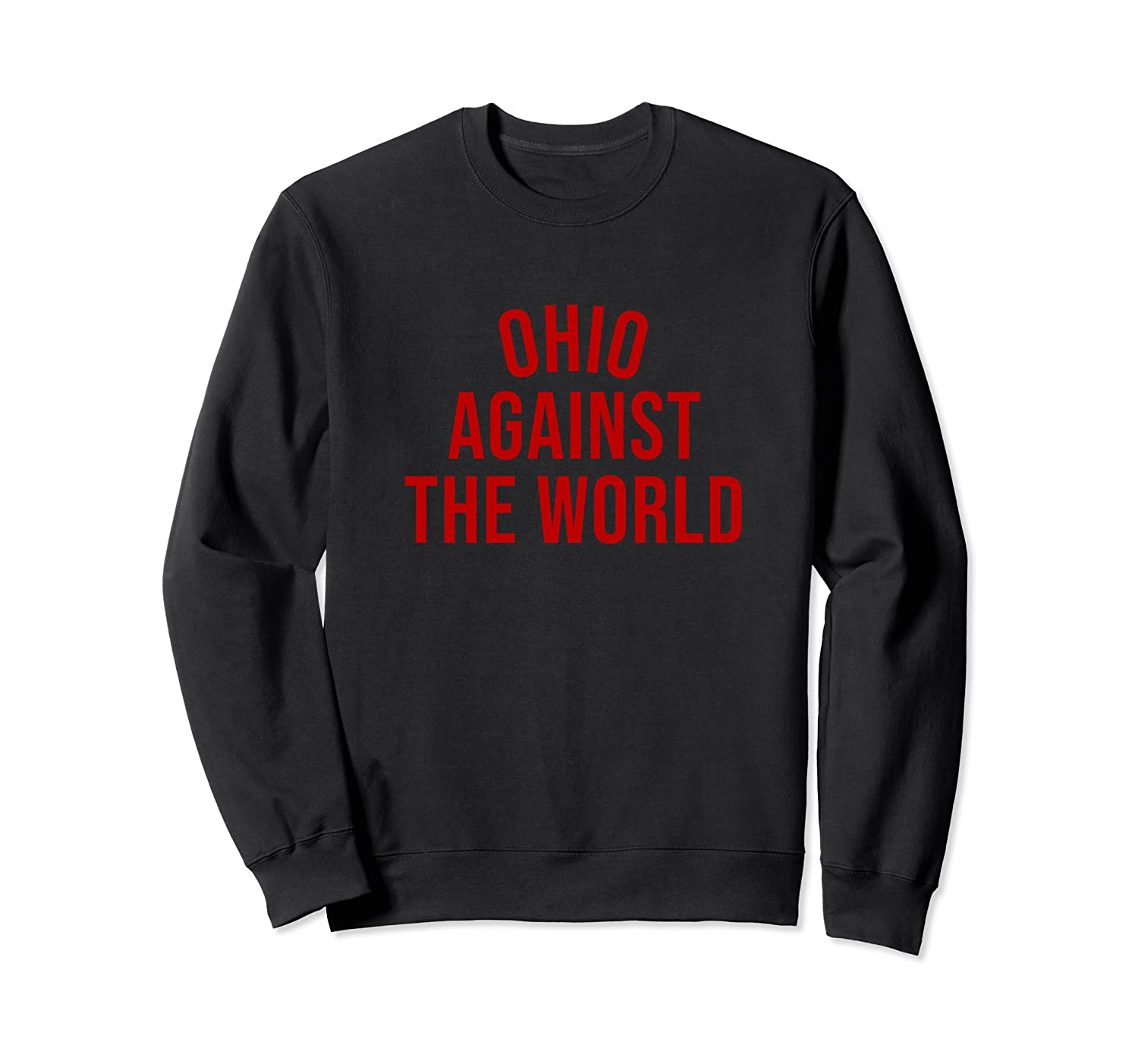 Ohio-Against-The-World - Special Edition Red Text on Black Sweatshirt-TH