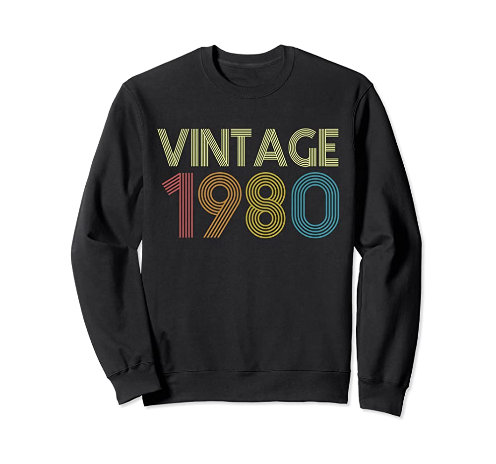 Vintage 1980 40th Bday Shirt  Retro Vintage 1980 Birthday Sweatshirt Unisex Tshirt