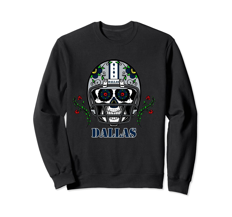 Dallas Football Helmet Sugar Skull Day Of The Dead T Shirt Crewneck Sweater