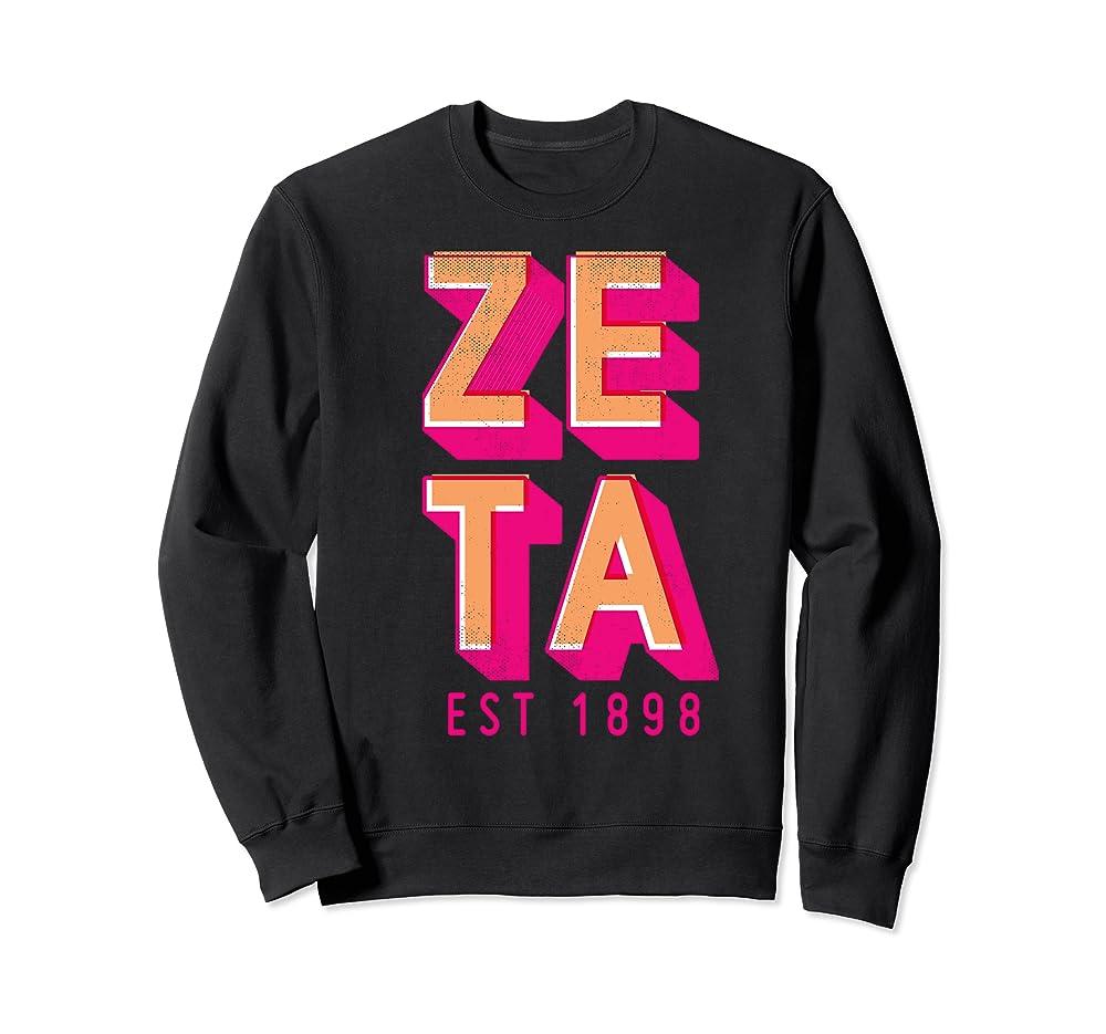 Zeta Tau Alpha Pledge Rush Sorority Vintage ZTA Halftone Sweatshirt Unisex Tshirt