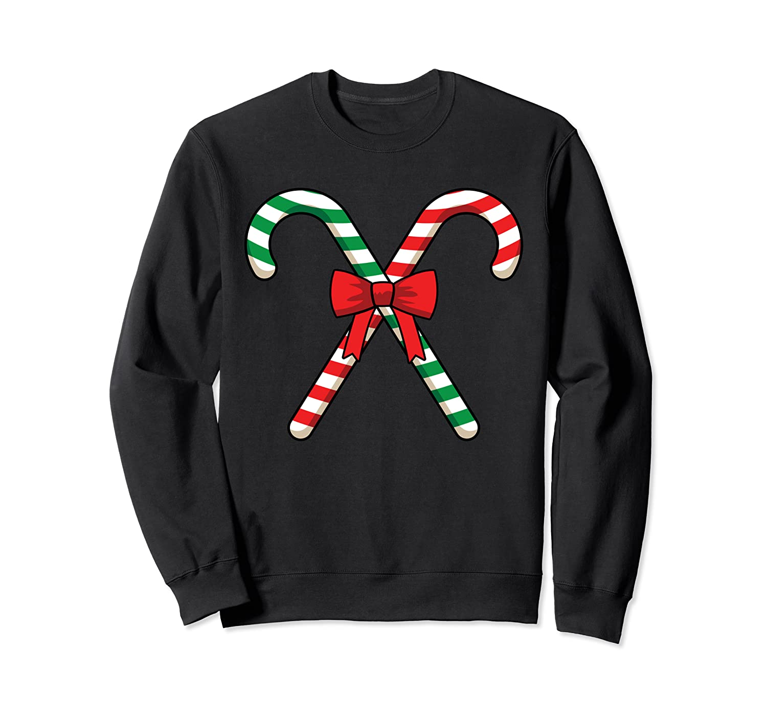 Big Giant Two Candy Canes Merry Christmas Funny Family Party Sweatshirt