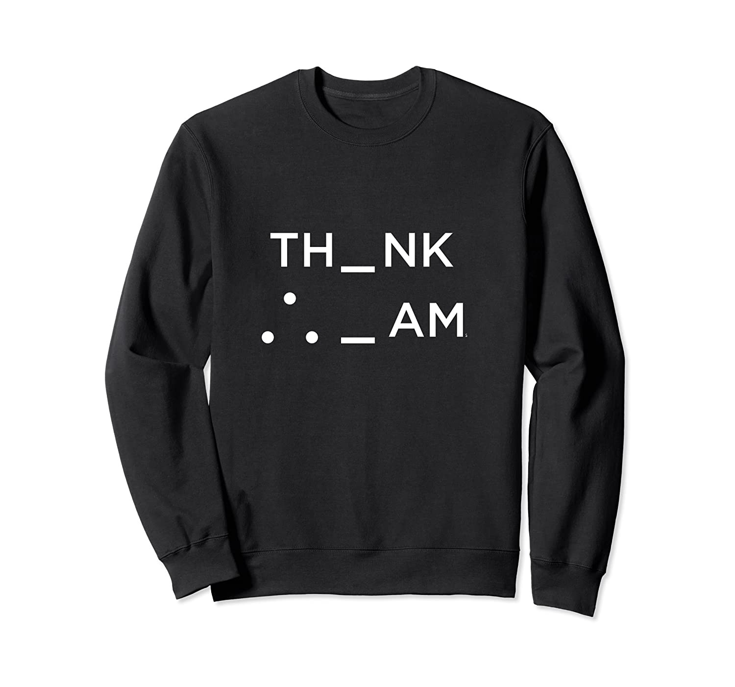 I Think Therefore I Am Puzzle Decode Gift T Shirt Crewneck Sweater