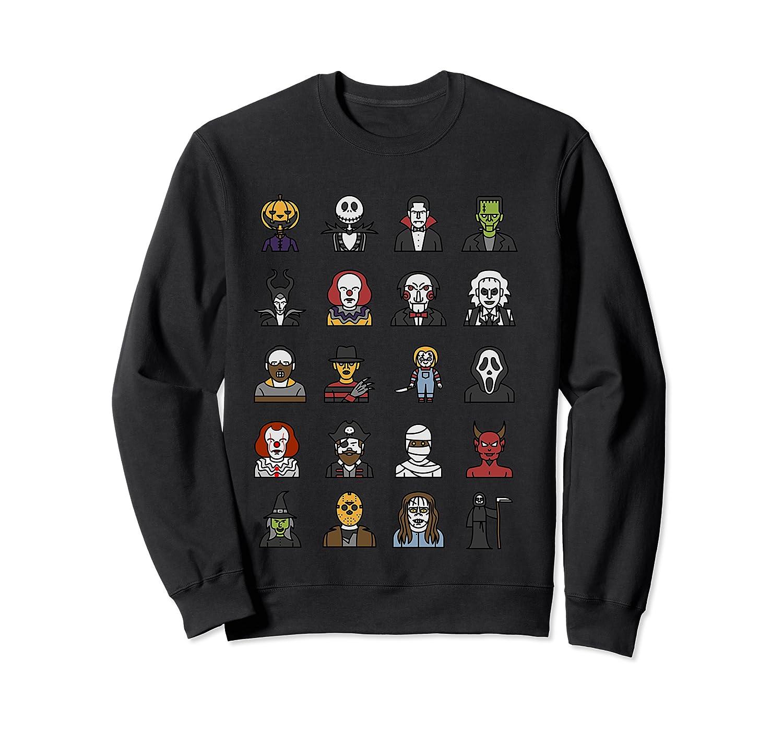 Friends Cartoon Halloween Character Scary Horror Movies T Shirt Crewneck Sweater