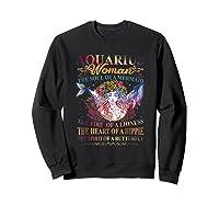 Aquarius Woman The Soul Of A Mermaid T Shirt Birthday Tees Sweatshirt Black