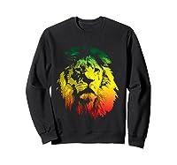 Lion Rasta Colors Rastafari Pride Reggae Inspired Shirts Sweatshirt Black