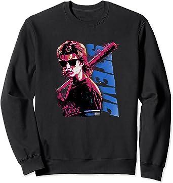 Stranger Things Stevie Splatter Punk Hello Ladies Sweatshirt