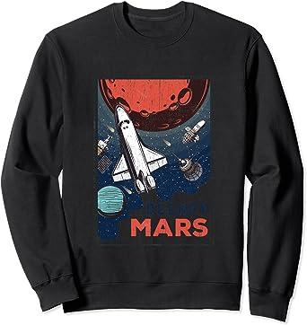 Occuper Mars Navette spatiale rétro de la NASA Sweatshirt