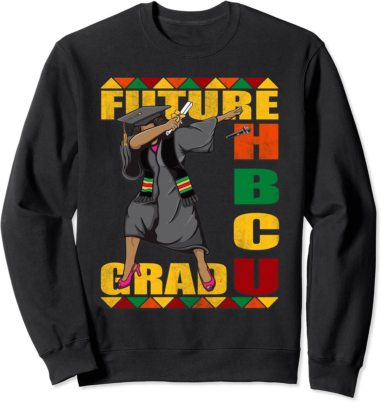 HBCU 公式 Grad Shirt Future Historically Graduate College お得 Sweat Black