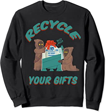Star Wars Christmas Jawas Recycle Your Gifts R2-D2 Sweatshirt