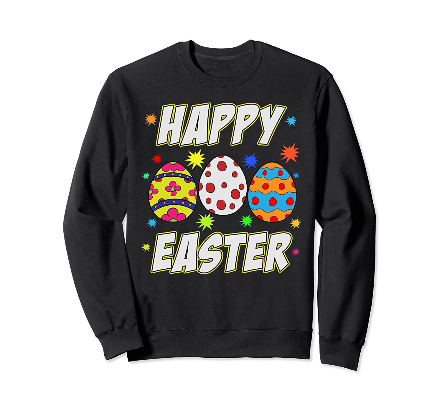 Happy Easter Day Colorful Egg Hunting Cute Easter Egg Sweatshirt