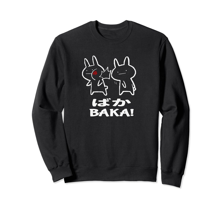 Baka Rabbit Slap Shirt Baka Japanese Funny Anime Pullover  Crewneck Sweater
