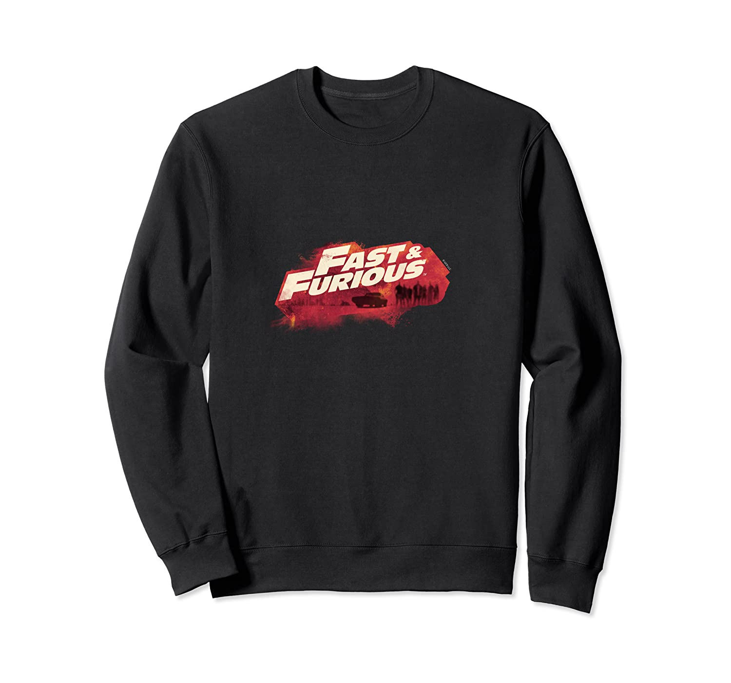Fast Furious Red Hue Logo Pullover Shirts Crewneck Sweater